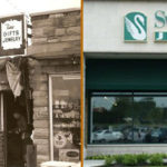 Store fronts from 1949 and 2019